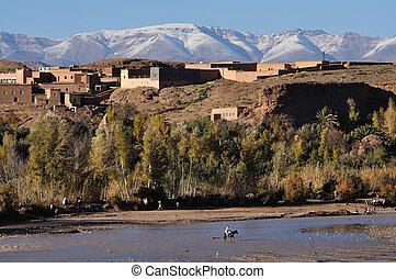 Berbère, village, maroc, afrique