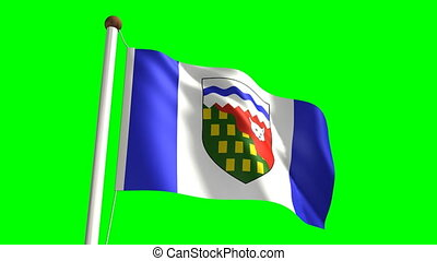 Northwest Territories flag seamless green screen