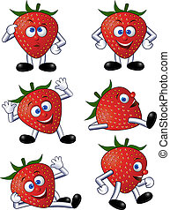 strawberry cartoon - Funny strawberry cartoon