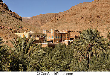 Casbah in Draa Valey, Morocco Africa