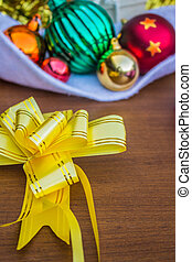 Yellow ribbon for gift decoration