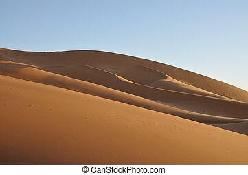 Sand dunes in the Sahara desert, Merzouga Morocco Africa