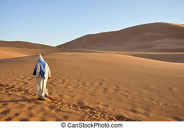 Bedouin in the Sahara desert, Morocco Africa