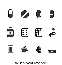 drug, medication vector set