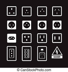 141-1Electric outlet and plug icon