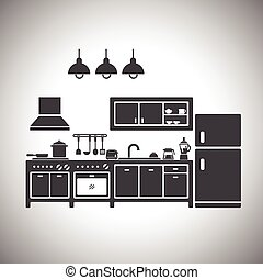 Vector illustration of kitchen