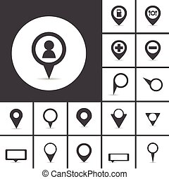 map markers vector
