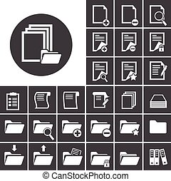 folder and paper icon