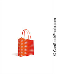 red shoping bag - Vector work of a red shoping bag with...