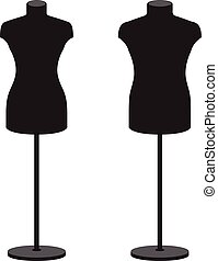 Mannequins for clothes male and female Vector set -...
