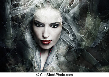 fantasy sorceress - dark fantasy sorceress woman, composite...