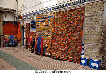 Carpets for sale in Essaouria, Morocco Africa