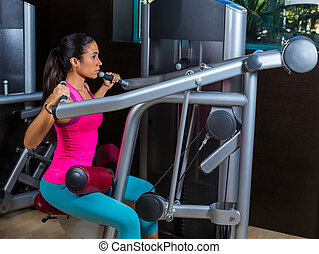 Lat Lateral dorsal pulldown machine upper back exercises...