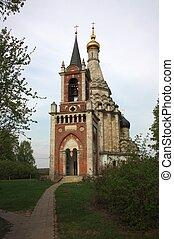 Transfiguration Church in the village of Ostrov. Russia,...