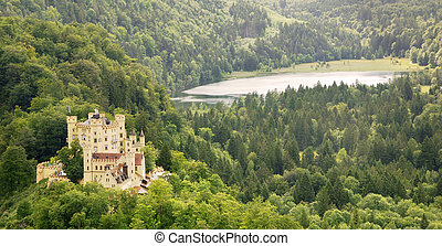 Hohenschwangau - Famous German castle Hohenschwangau in the...
