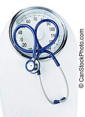 stethoscope and scale