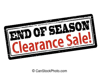 End of season clearance sale - Rubber stamp with text end of...