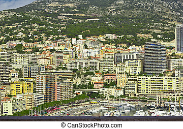 Principality Monako.Monte Carlo. City sights and landscapes