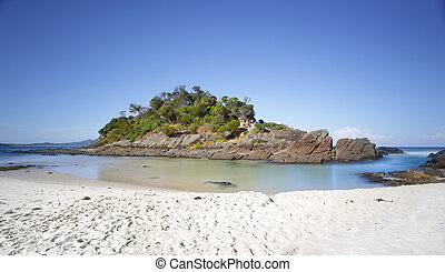 Little island at Number One Beach, Seal Rocks, Myall Lakes Natio