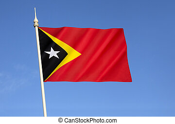 Flag of the Democratic Republic of Timor-Leste - At midnight...