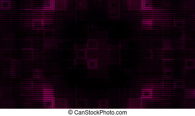 Dark Magenta Geometric Looping Animated Background