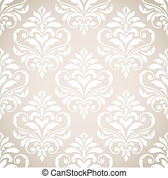 Seamless damask pattern. - Damask seamless pattern for...