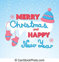 Merry Christmas and Happy New Year vector holiday...