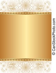 gold background - creamy and gold background with floral...