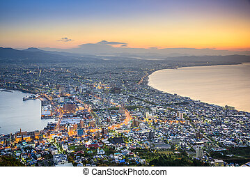 Hakodate, Japan City Skyline - Hakodate, Hokkaido, Japan...