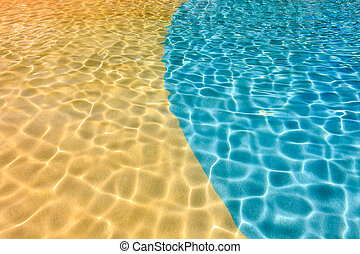 Reflection of water in swimming pool