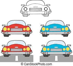 Convertible Retro Car. Collection