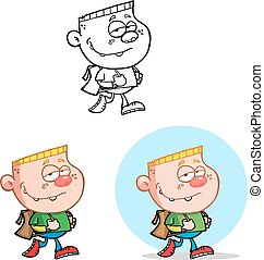 Cool Boy Going To School Collection - Cool Boy Going To...