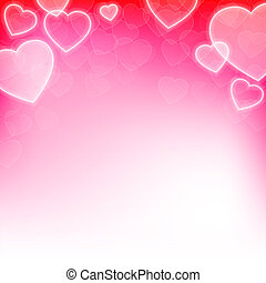 Valentines day background with hearts and copy space
