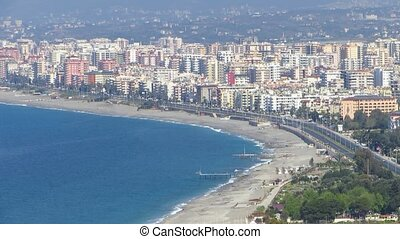 Alanya in Turkey - The beautiful town of Alanya near the...