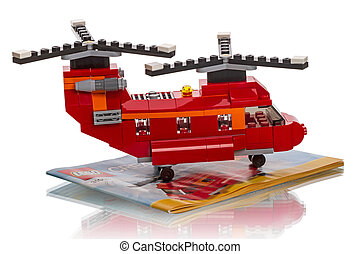 LEGO Creator - two rotor helicopter - Tambov, Russia -...