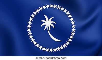 Flag of Chuuk Close Up