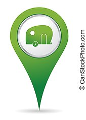 location caravan icon