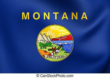 Flag of Montana, USA. Close Up.