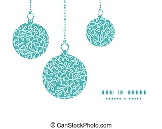 Vector abstract underwater plants Christmas ornaments...