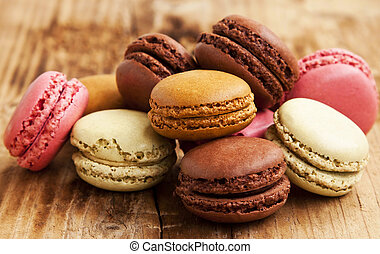 Macaroons - Delicious Macarons, French Pastry Cookies with...