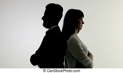 Concept of relationship problem woman angry with man