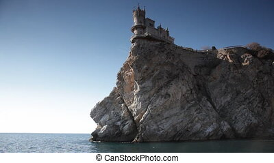 Swallows Nest castle on the rock over the sea, Crimea,...