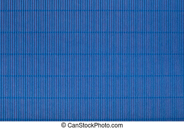 Blue corrugated cardboard carton, texture background, colorful s