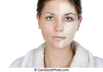 Shot of a Pretty Teen with Half Face Mask