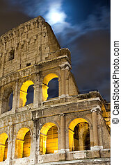 View of the Colosseum at night