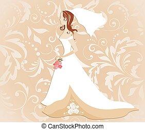 Wedding card with bride