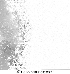 Abstract winter silver snowflakes background