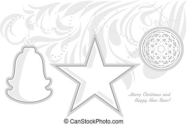 Stylized Christmas toys Card - Stylized Christmas toys...