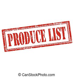 Produce List-stamp