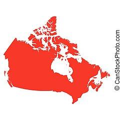 Canadá, mapa,